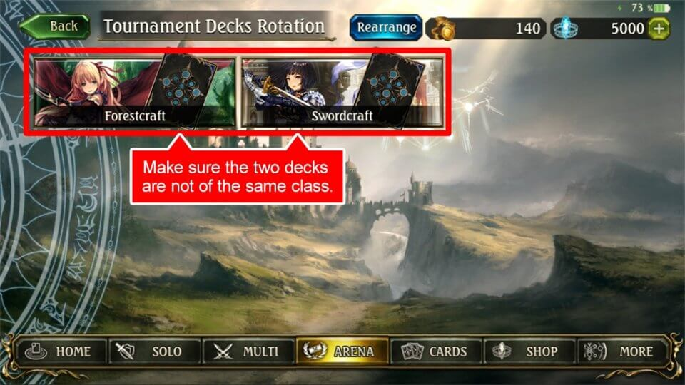 "(4)The ""New Deck"" button will disappear and the deck registration will be completed once you have registered two decks."